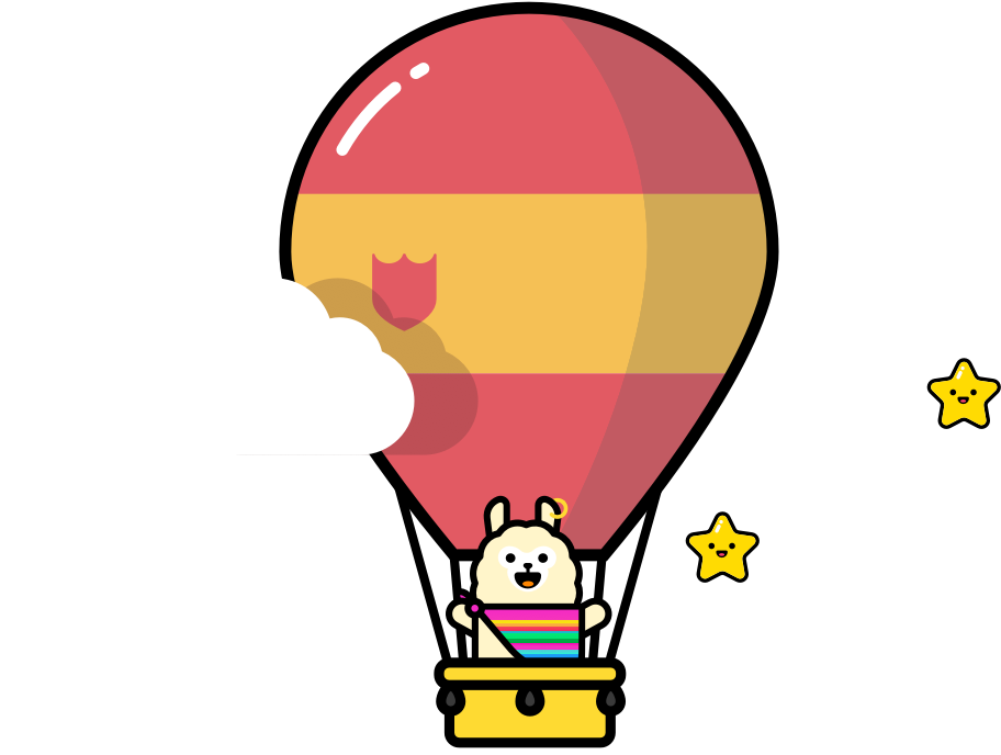 bear in a hot air balloon