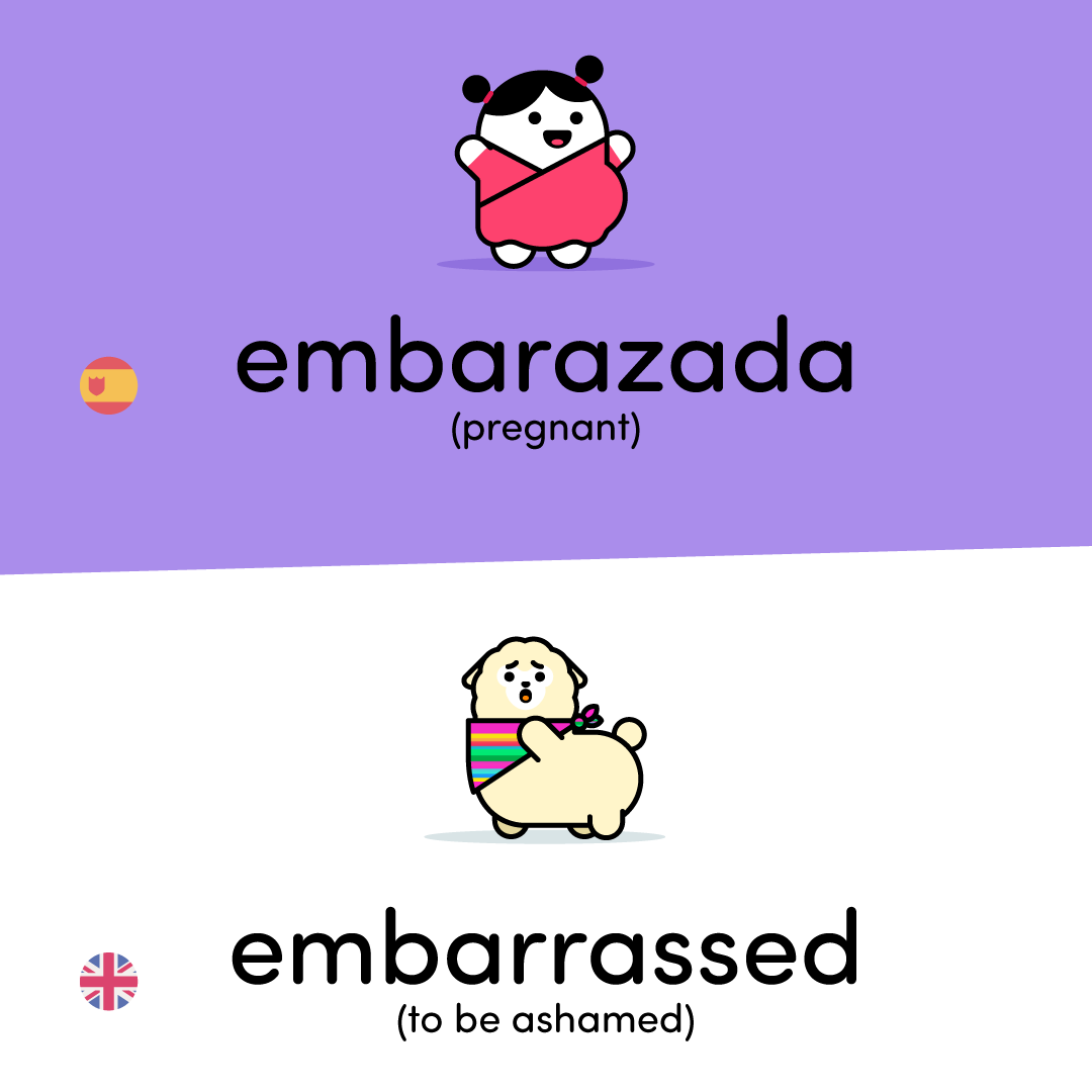 embarazada or embarassed